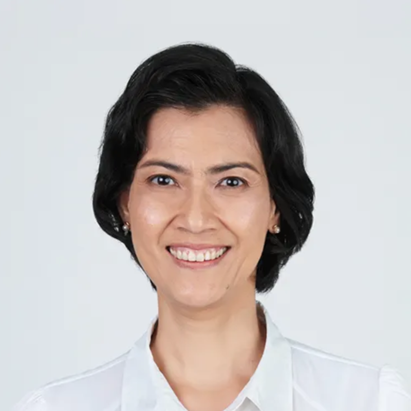 Textured Bob of Singapore Politician Joan Pereira from People's Action Party