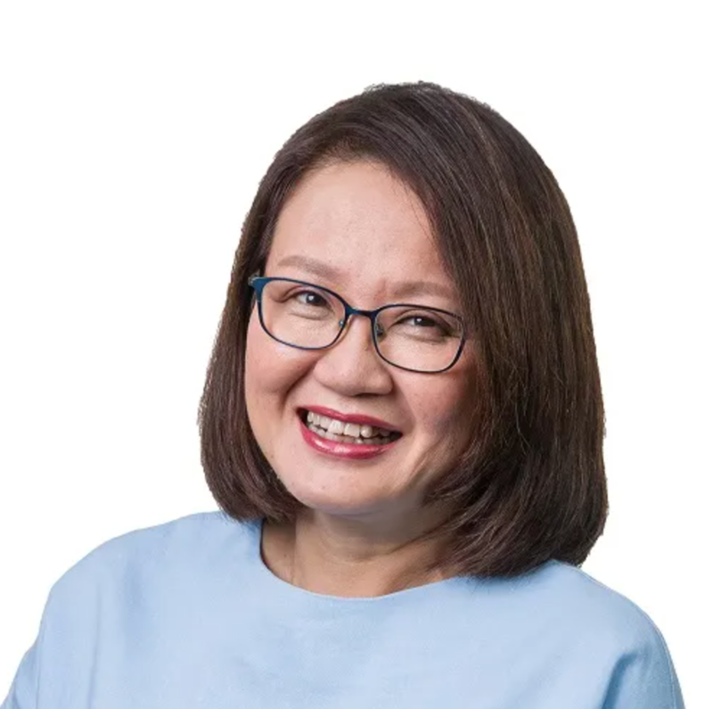 Straight Lob Haircut Sylvia Lim from Workers' Party