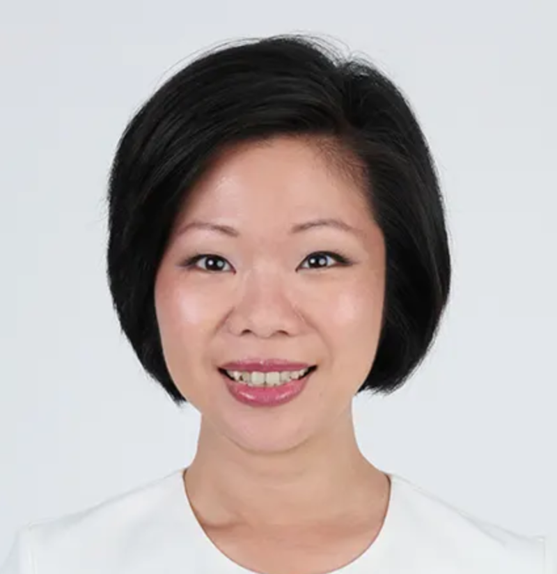Singapore Politician Smart Short Bob Hairstyle Sim Ann from the People's Action Party