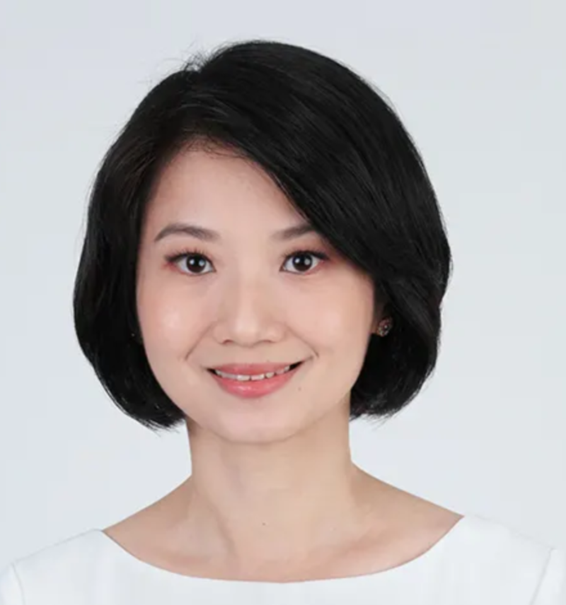 Singapore Politician Hairstyle Elegant Short Bob Sun Xueling from People's Action Party,