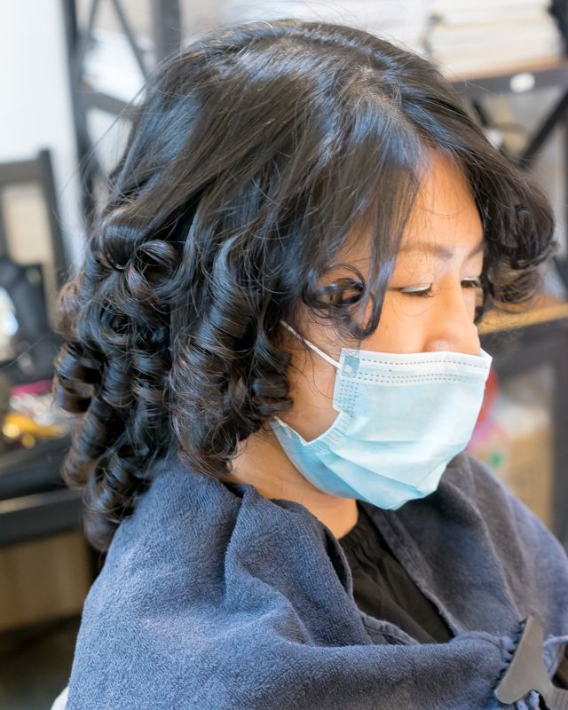 Curling Process During Advante Perm at Picasso Hair Studio