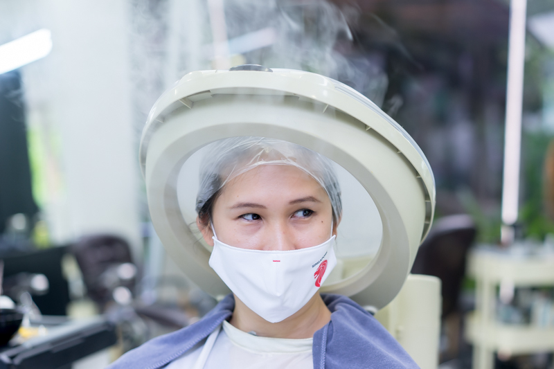 Application of Perm Lotion at The Bund AMK