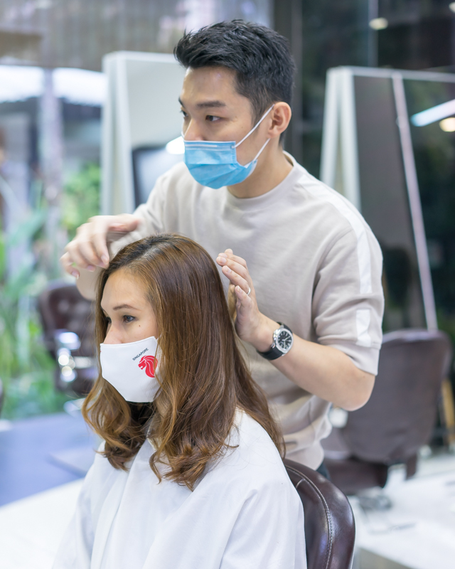 Styling After Hair Perm at The Bund AMK