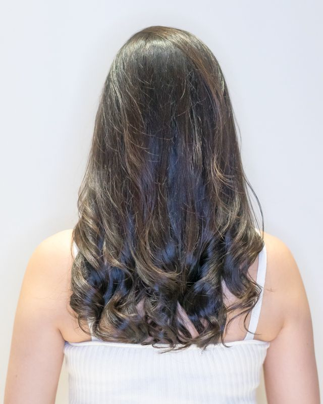Haircut Visible with Perm