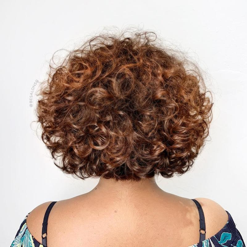 Curly Haircut by Sham from Be Salon