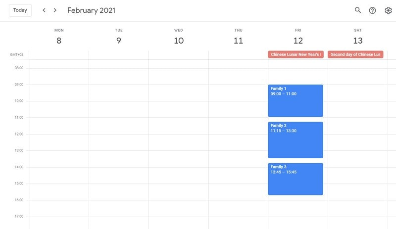 Home Visit Schedule During COVID 19 Phase 2 Chinese New Year