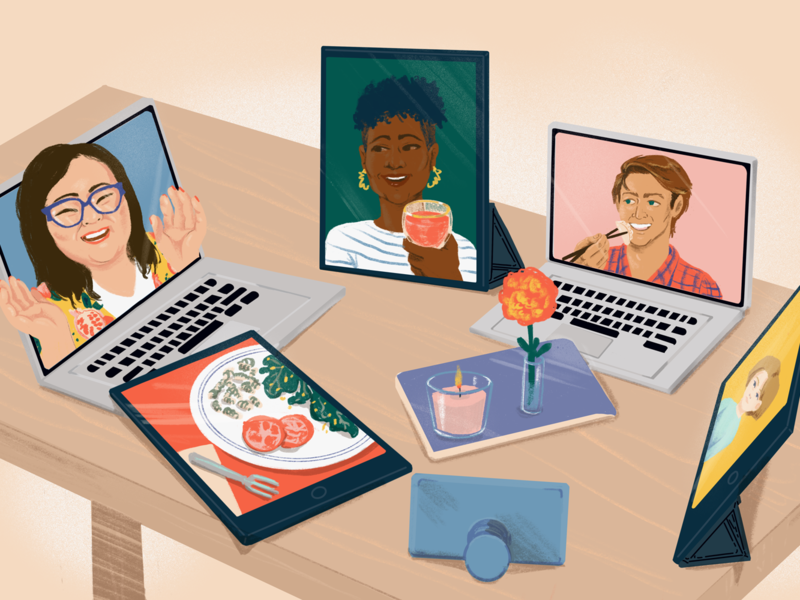 Virtual Reunion Dinner over Zoom or Google Hangouts
