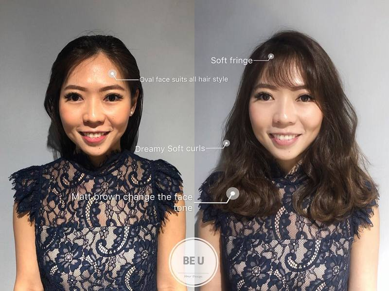 Hairstyles According to Face Shape by Be U Hair Design