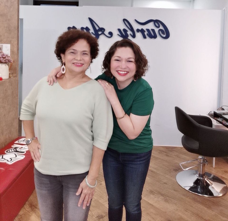 My Mom and Me at Ann's Studio