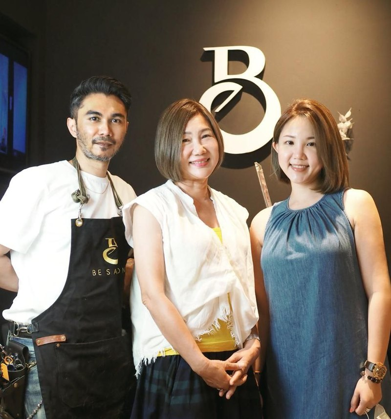 My Mom and Me with Hairstylist Sham at Be Salon