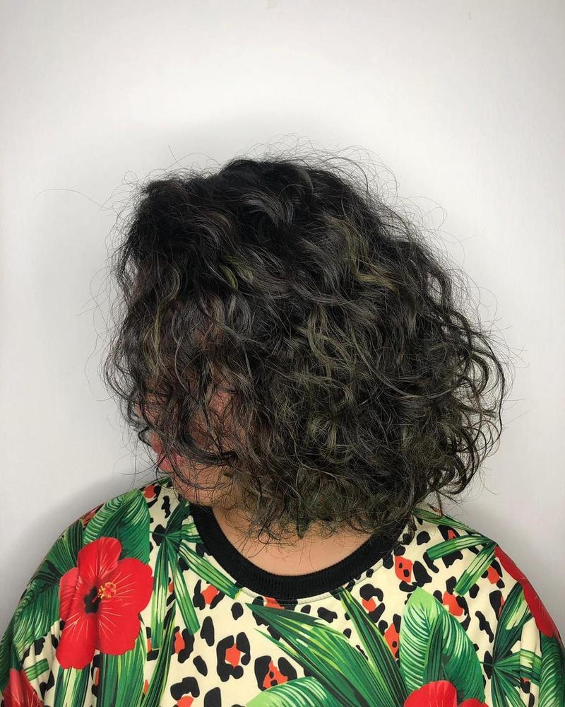 Subtle Highlights For Curly Hair by No. 8 Hair Studio