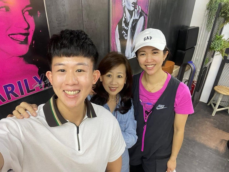 My Mom and Me with Hairstylist Ivy at Act Point Salon