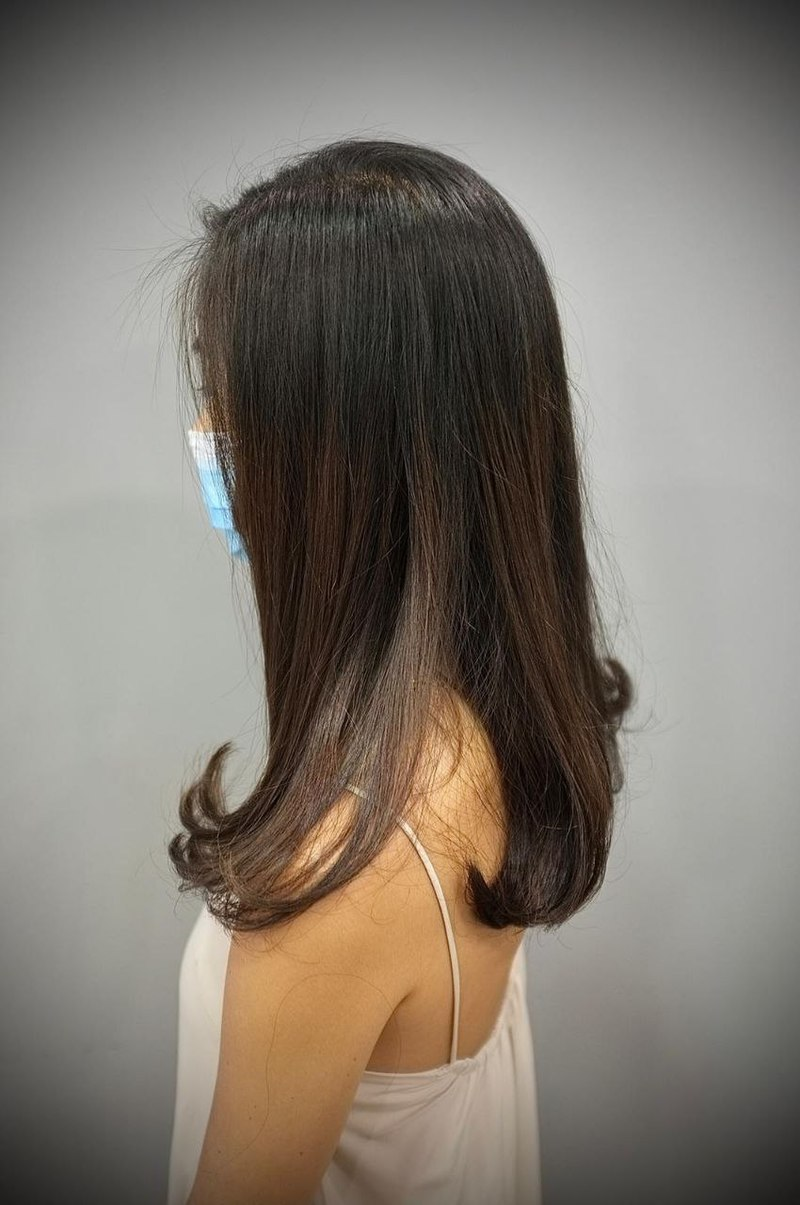 C Curl with Rebonding by Kudos by Headlines Hairdressing