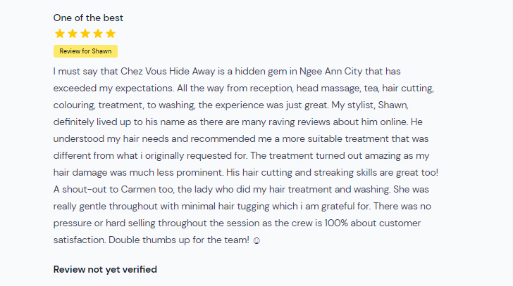 Customer Review of Chez Vous Hideaway