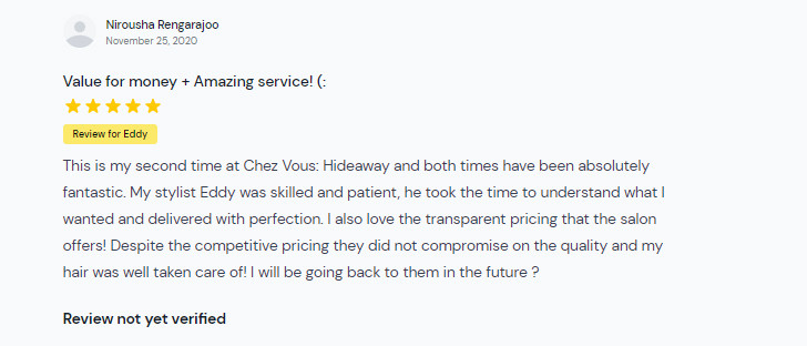 Customer Review of Chez Vous Hideaway Price