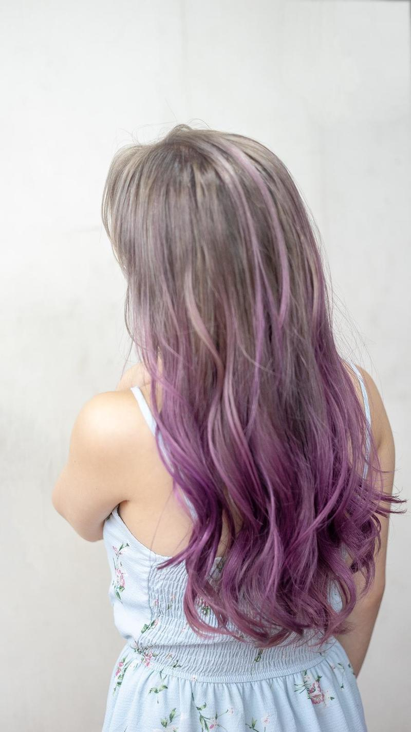 Two-toned Lilac Hair Colour at Color Bar by Full House Salon