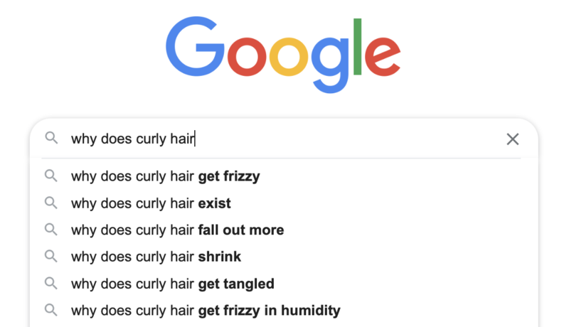 Google Search on Curly Hair Problems