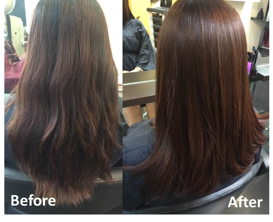 Light Chocolate Brown and MUCOTA Pearl Shine Treatment by Focus Hairdressing