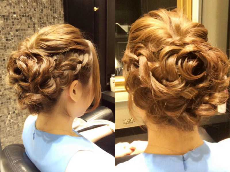 Braided Updo Styling by Branche Salon
