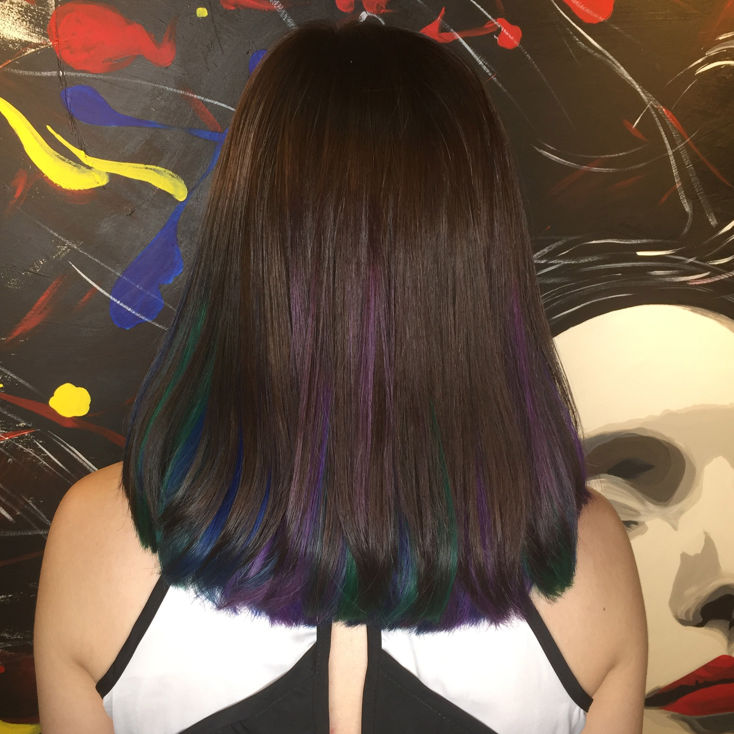 3C Peacock Angel Hair Colour by Picasso Hair Studio