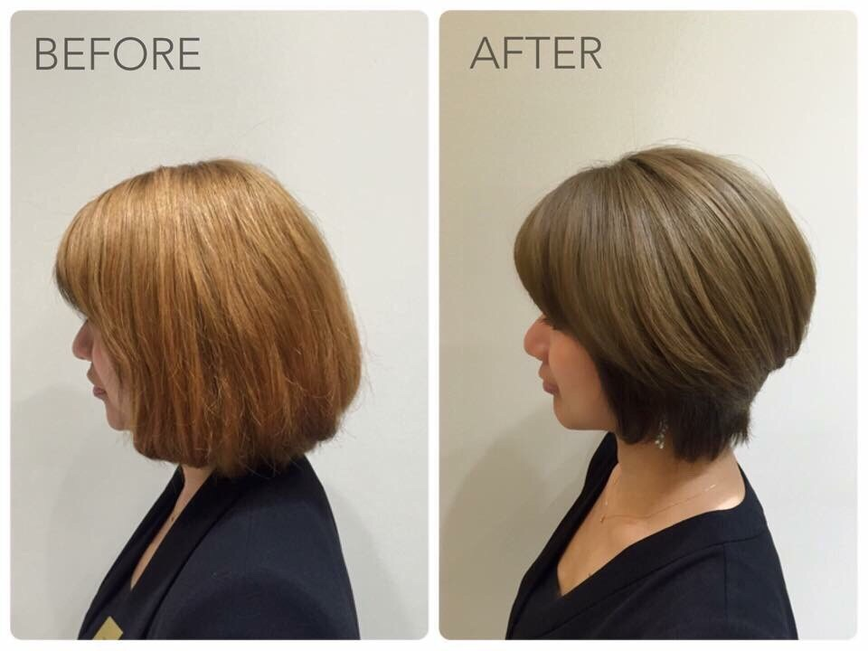 Hair Colour and Tapered Bob Cut