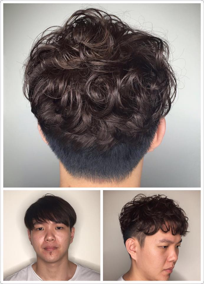 Japanese Men's Perm Curly Hair by Picasso Hair Studio