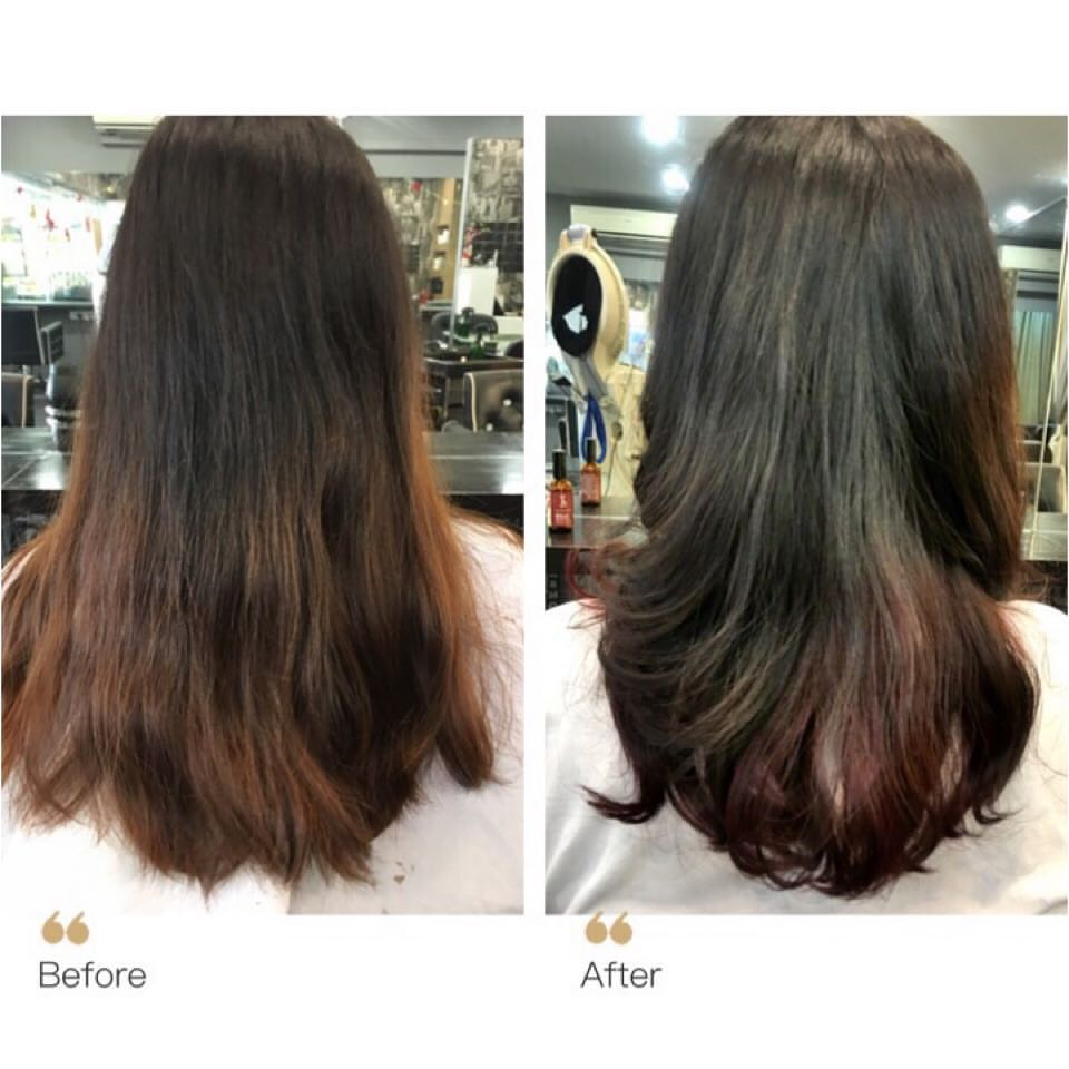 Before and After Rebonding at Full House Salon
