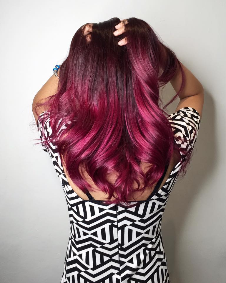 Berry Red Ombre by Takuya from CLEO Hair & Make