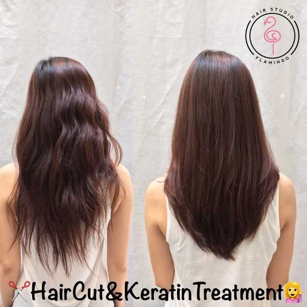 Haircut and Keratin Treatment For Frizzy Curly Hair by Tomo at Flamingo Hair Studio