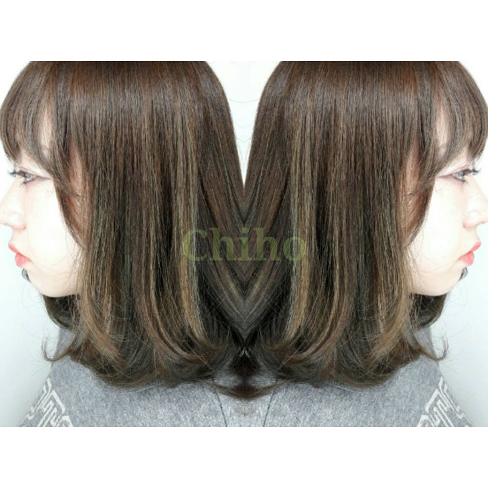 Olive Brown Highlights for Work at Bump Hair Design