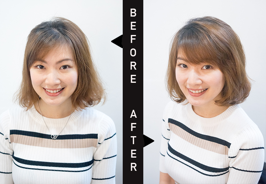 Before and After Tokio Sinka Perm on Messy Hair at Act Point Salon