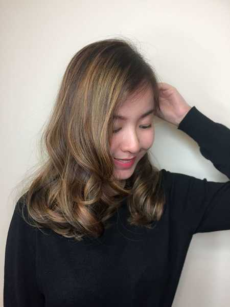 Highlights and lowlights for long hair by Art Noise Japanese Hair Salon