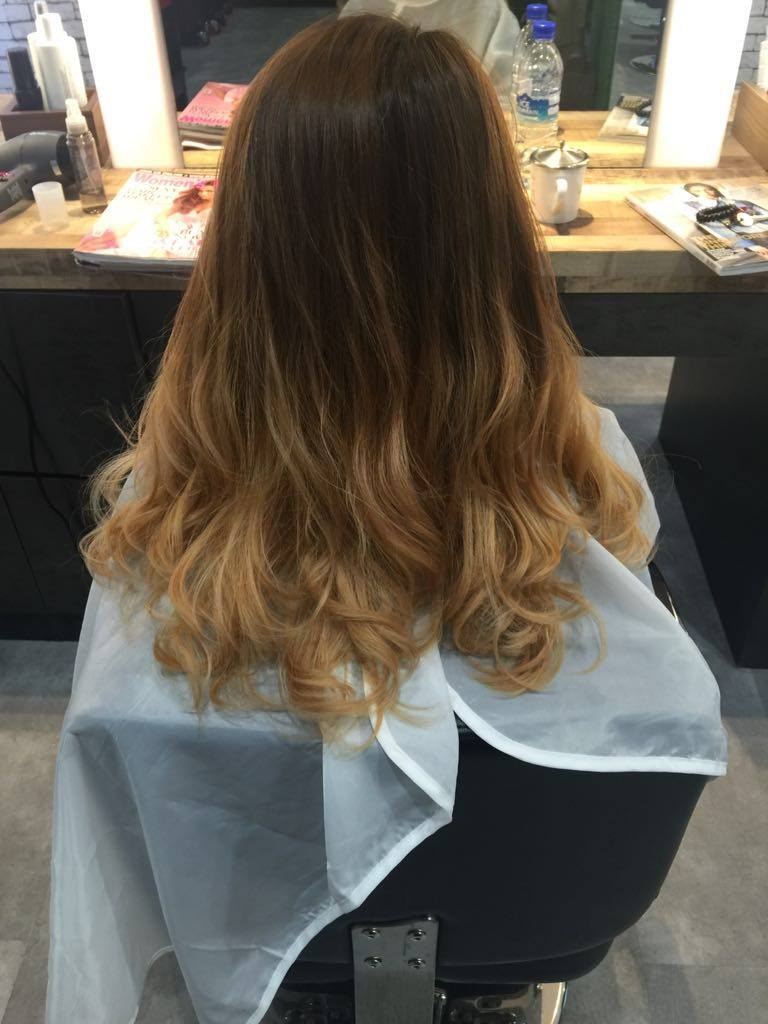 Before Paimore Grats Perm on Bleached Hair at Act Point Salon