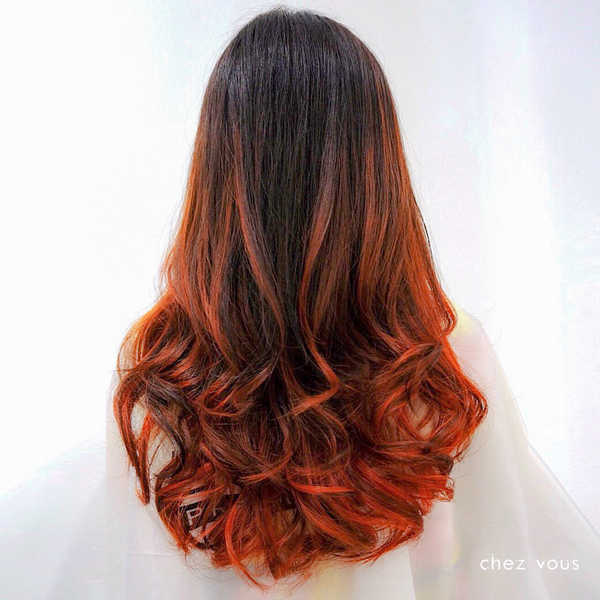 Cuivre Red Balayage Ombre