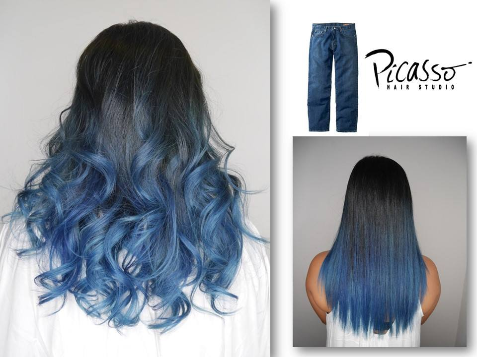 Demin Blue Ombre by Picasso