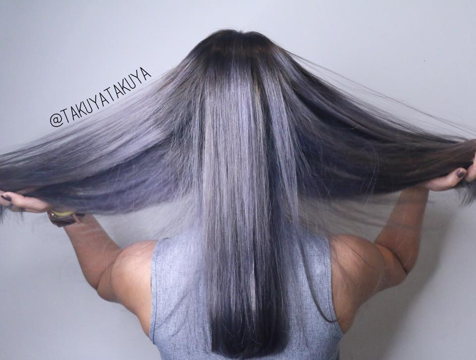 Silver Grey by Takuya from CLEO Hair & Make @ Clarke Quay The Central