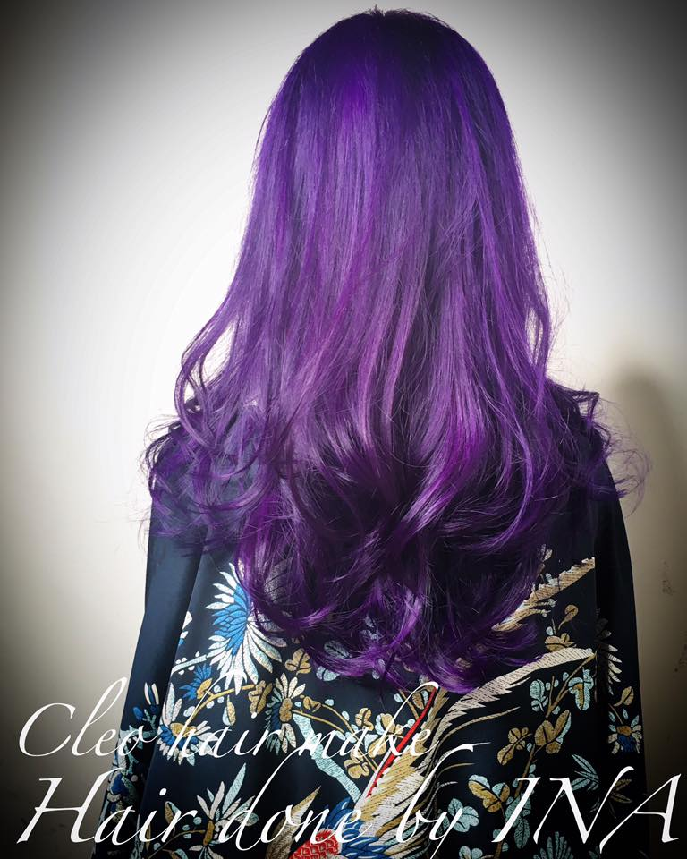 Purple and Wild Orchid by Ina from CLEO Hair & Make @ Clarke Quay The Central