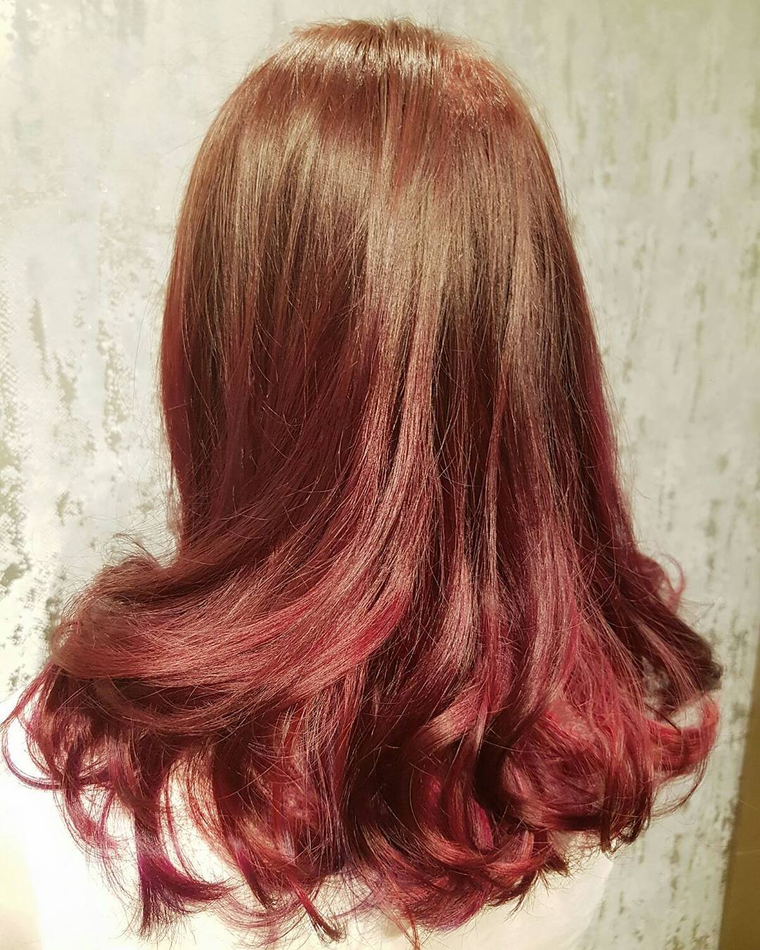 Brown Red Ombre