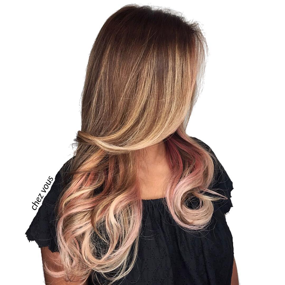 Blonde and Brown Highlights by Chez Vous