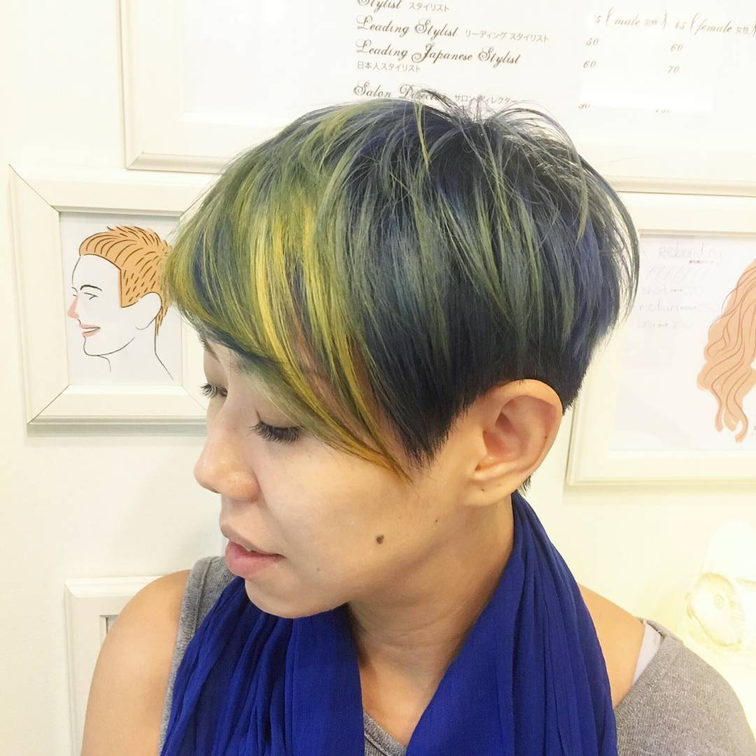 Yellow Highlights for Short Hair
