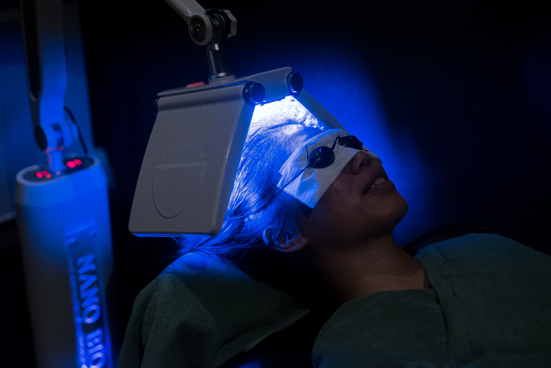 Laser Therapy During Scalp Treatment at Follicle Salon