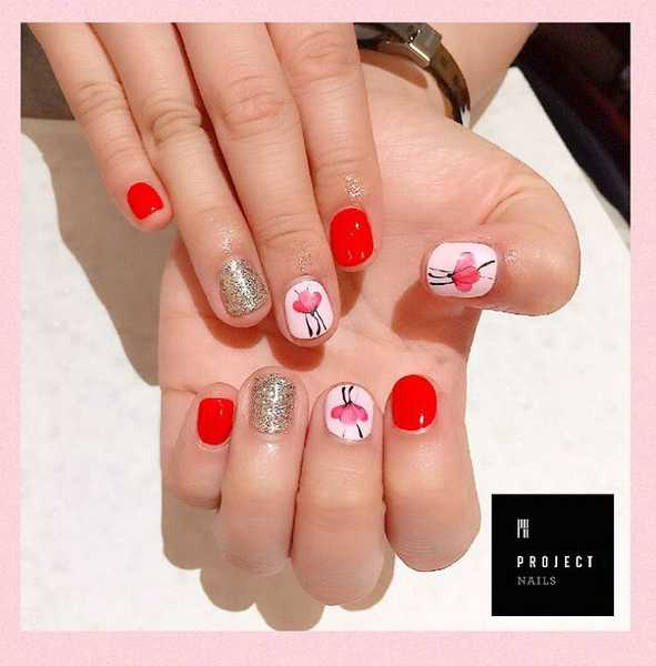 Nail Art for National Day