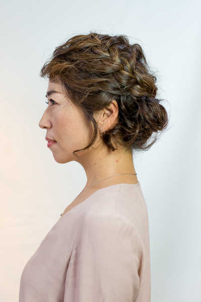 Braided Updo Styling by COVO Japanese Hair Salon