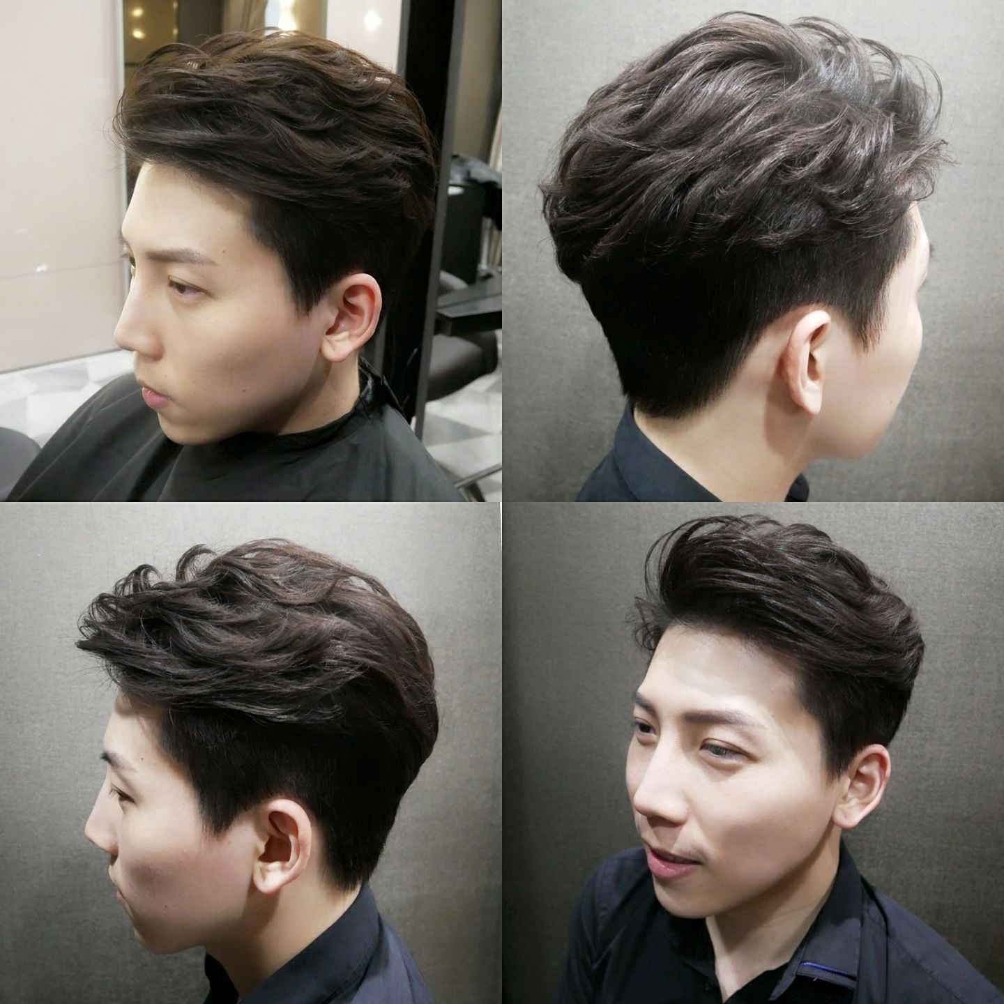 Men's Perm with Two Block Haircut