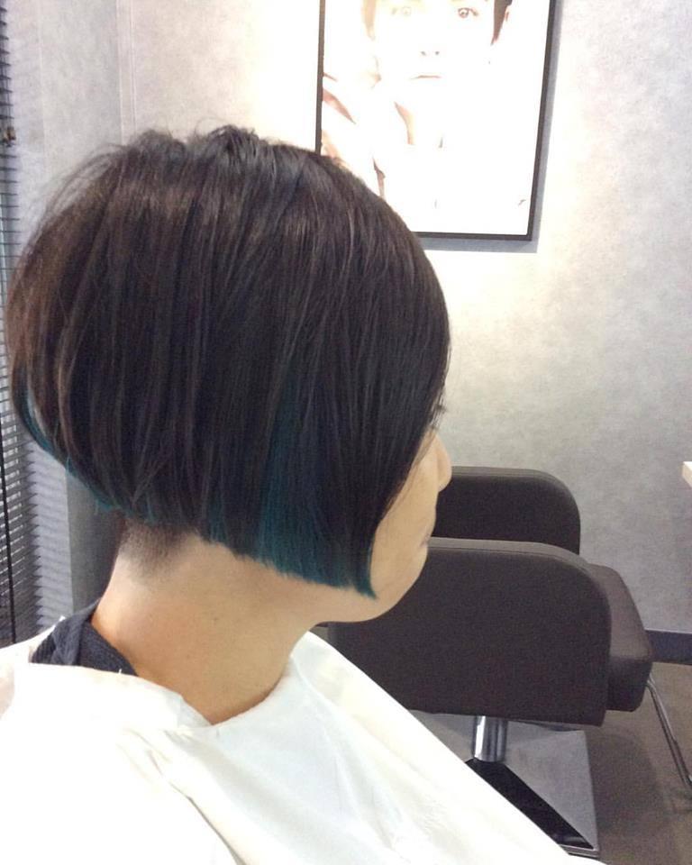Muted Green Hair Colour by Gene