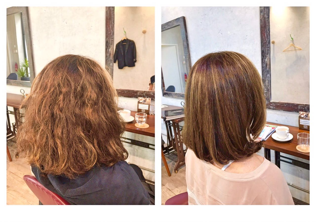 Before and After Hair Fix on Haircut and Damaged Hair by Teru at Rubik Salon