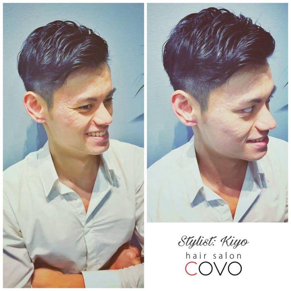 Low Maintenance Men's Haircut with Side Swept Fringe at COVO