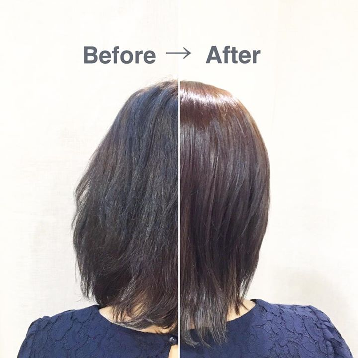 Before and After Keratin Treatment on Dry Hair at Flamingo Hair Studio