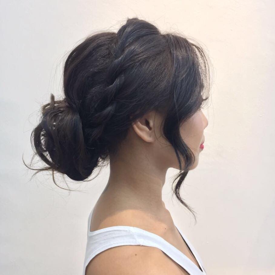 Messy Updo by Picasso Hair Studio