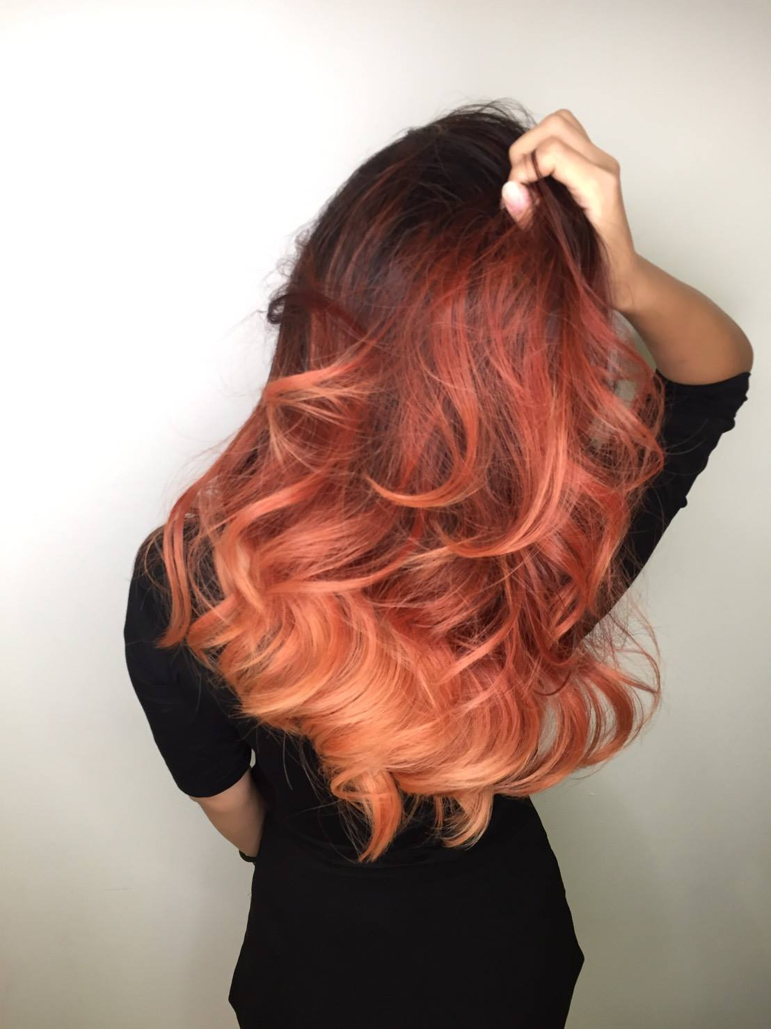 Red Balayage Ombre by Yushi